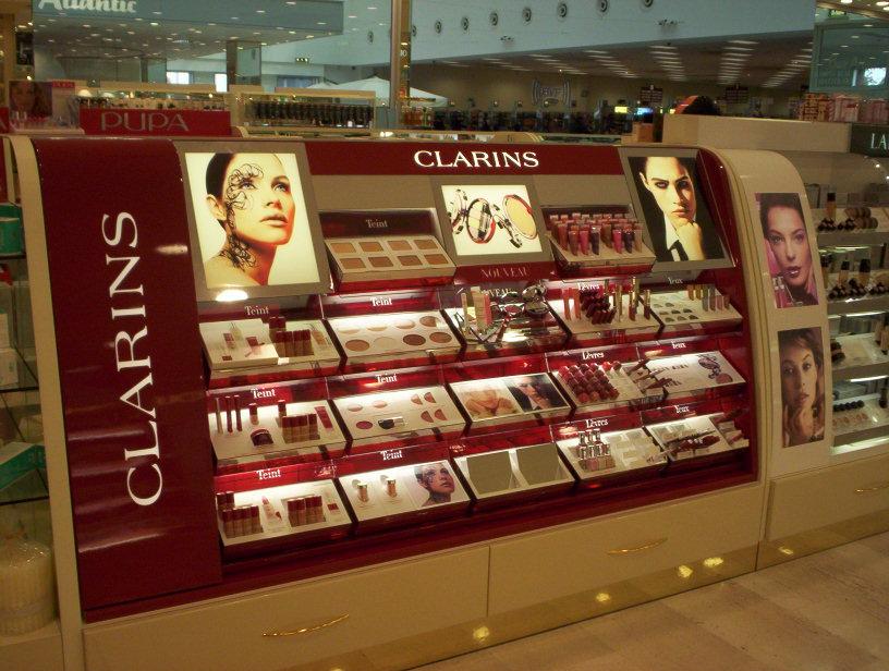 Clarins – gondola espositiva